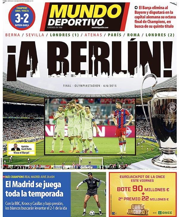 Mundo Deportivo Portada 130515