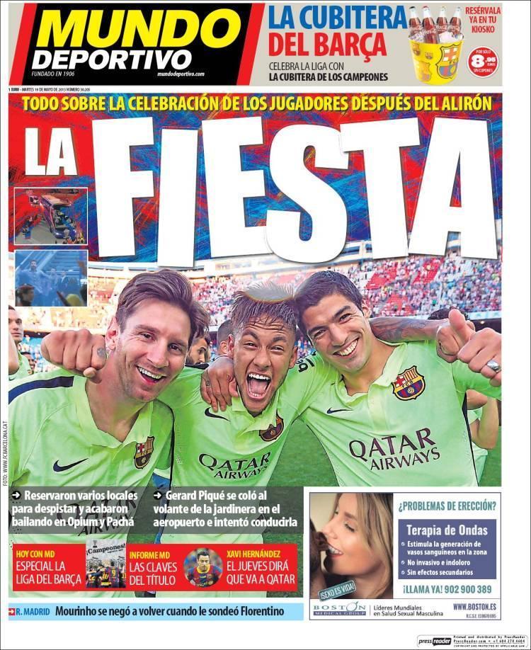 Mundo Deportivo portada 19.05.15.
