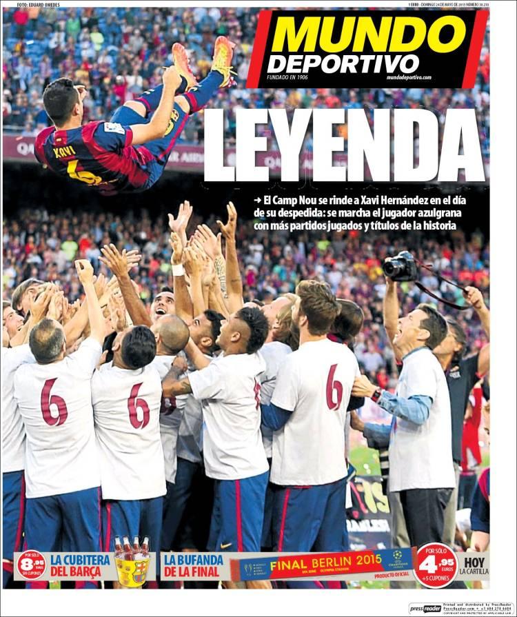 mundo deportivo portada 25.05.15.