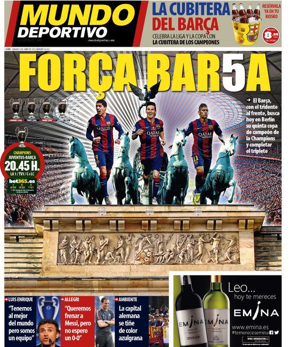 Mundo Deportivo Portada 06.06.15