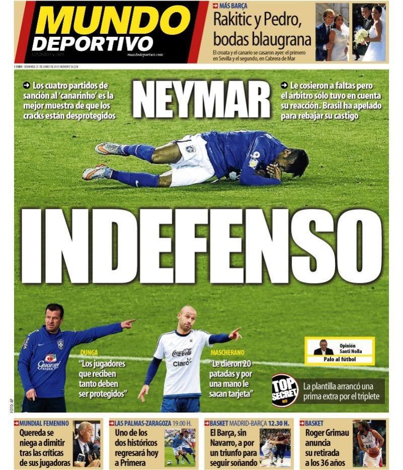 Mundo Deportivo Portada 21.06.15