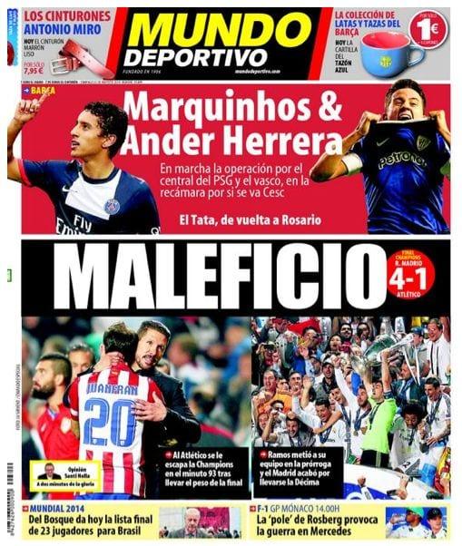 Mundo Deportivo Portada 25.05.14
