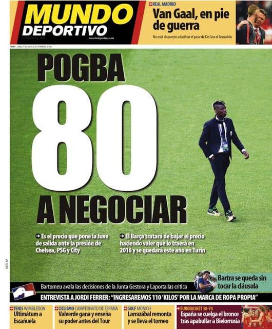 Mundo Deportivo Portada 29.06.15