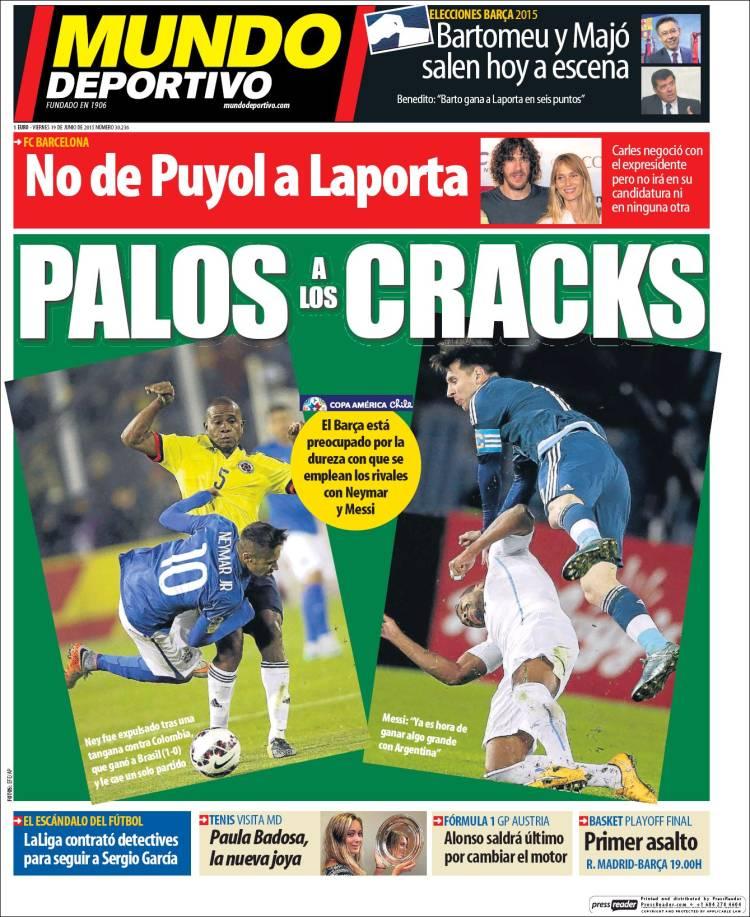 mundo deportivo palos a los cracks