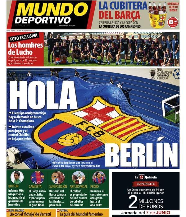 Mundo deportivo portada 05.06.15