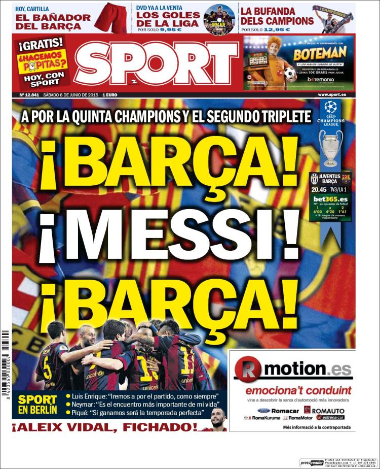 Sport Portada 06.06.15