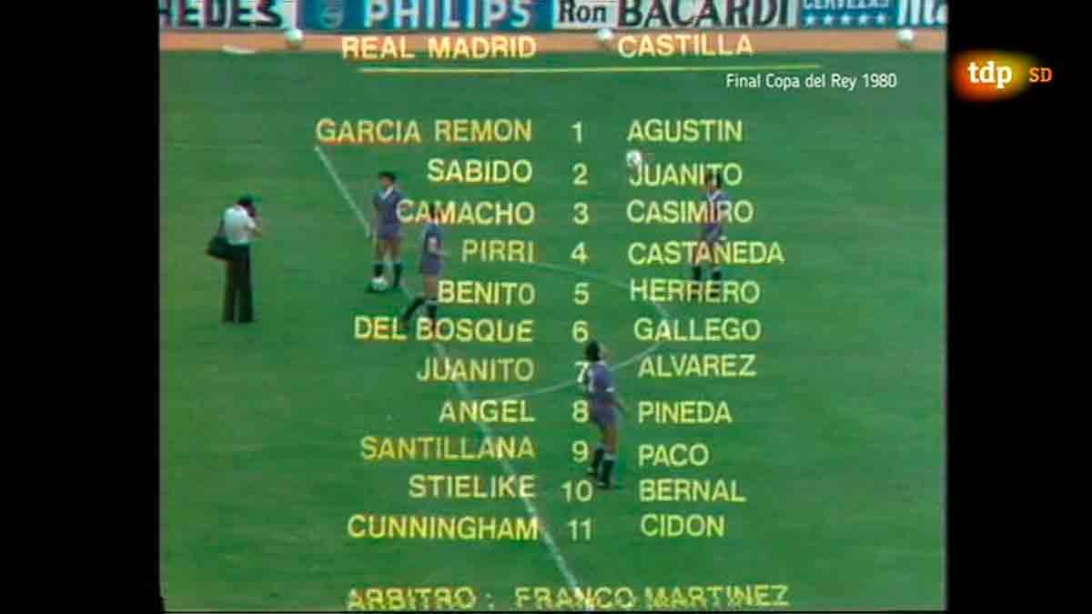 Castilla Real Madrid final 1980 alineaciones