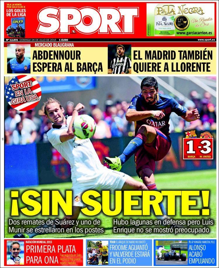 Portada Sport 26.07.15