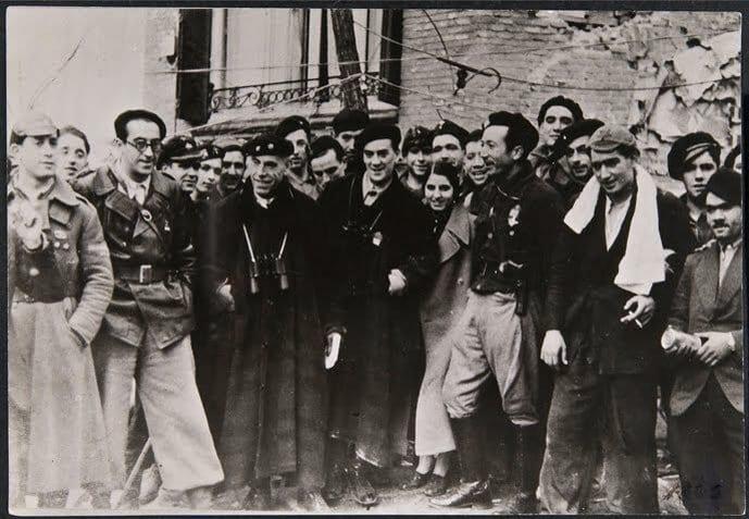 Antonio Ortega con las Milicias Antifascistas Vascas