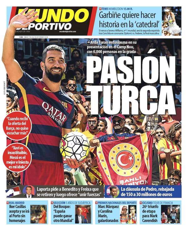 Mundo Deportivo Portada 11.07.15