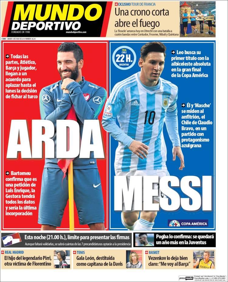 Mundo Deportivo Portada 04.07.15