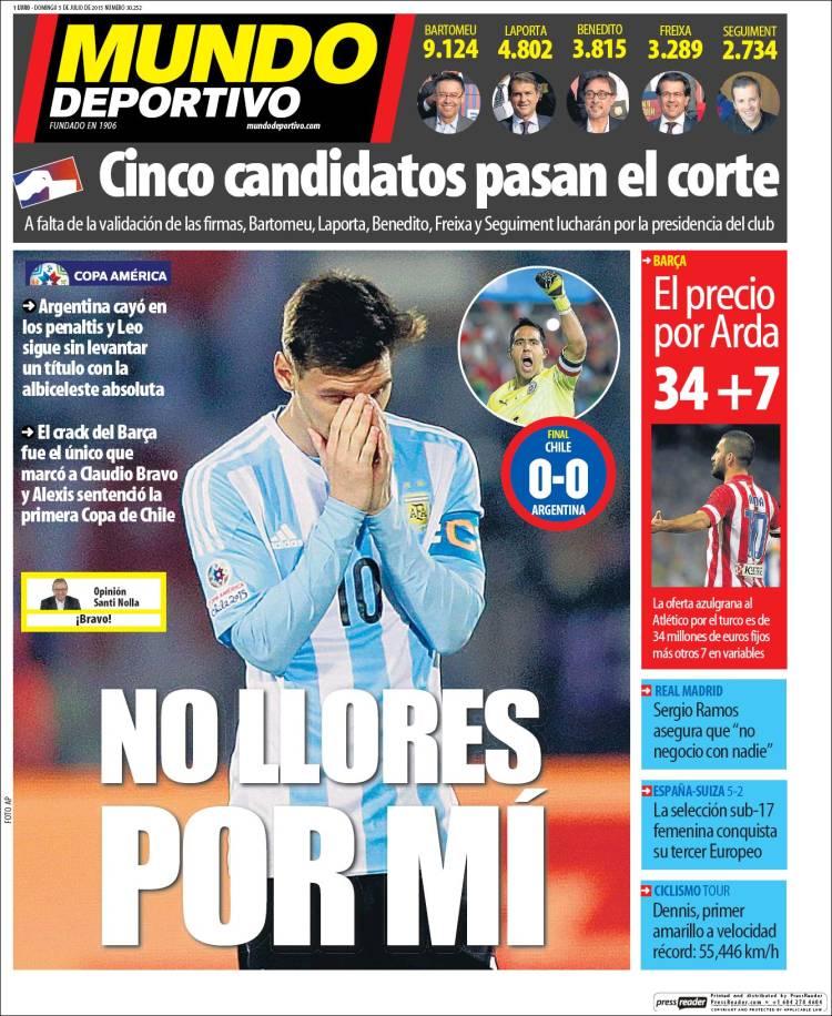 Mundo Deportivo Portada 05.07.15