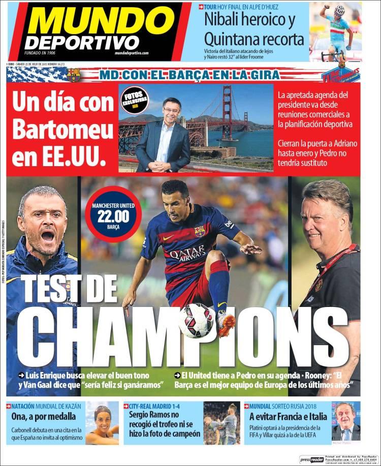 Mundo Deportivo Portada 25.07.15