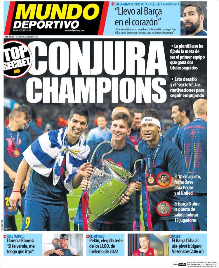 Mundo Deportivo Portada 01.08.15