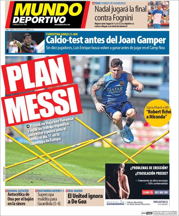 Mundo Deportivo Portada 02.08.15