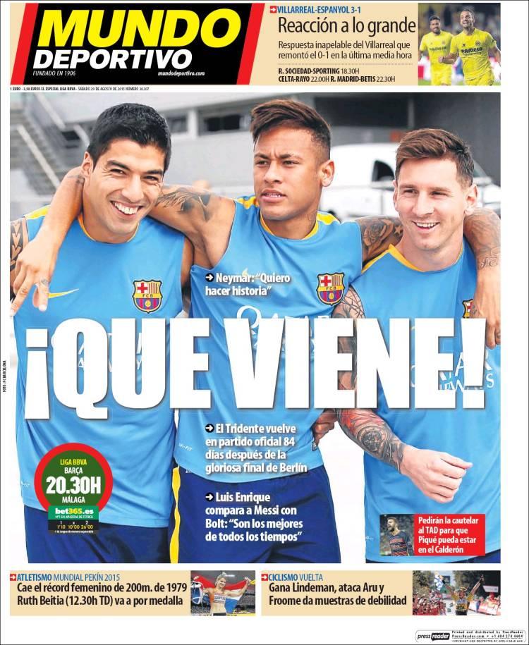 Mundo Deportivo 29.08.15