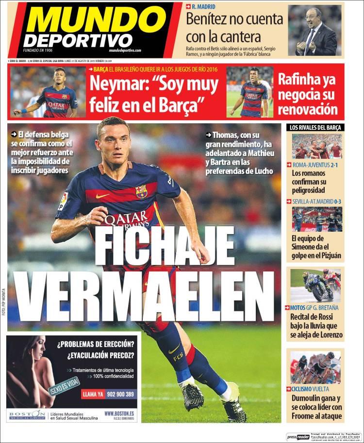 Mundo Deportivo 31.08.15