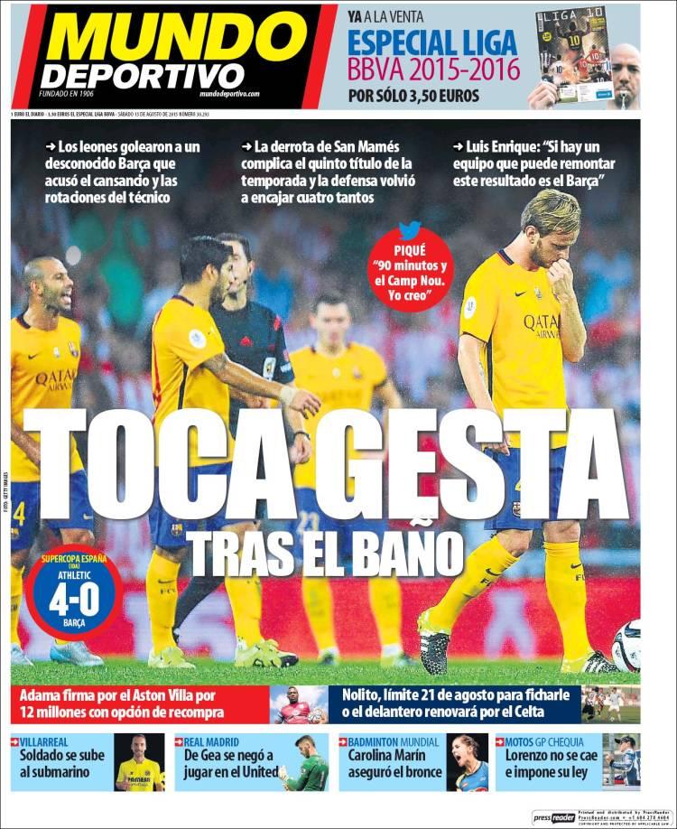 Mundo Deportivo Portada 15.08.15