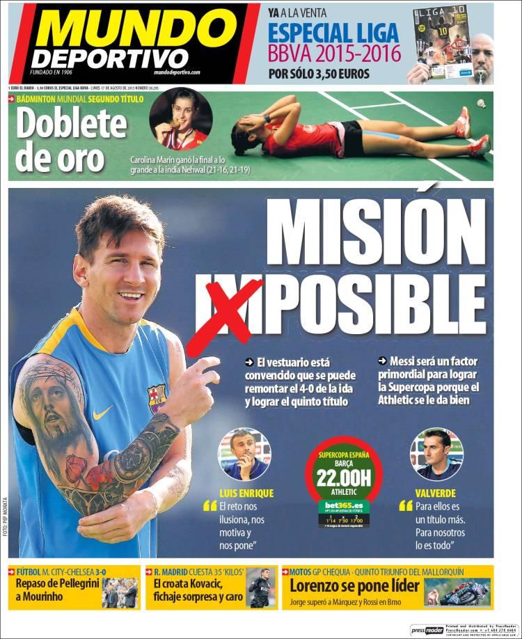 Mundo Deportivo Portada 17.08.15