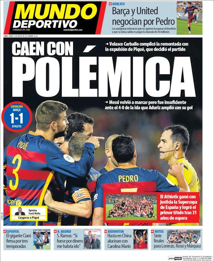 Mundo Deportivo Portada 18.08.15