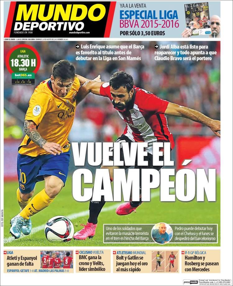 Mundo Deportivo 23.08.15