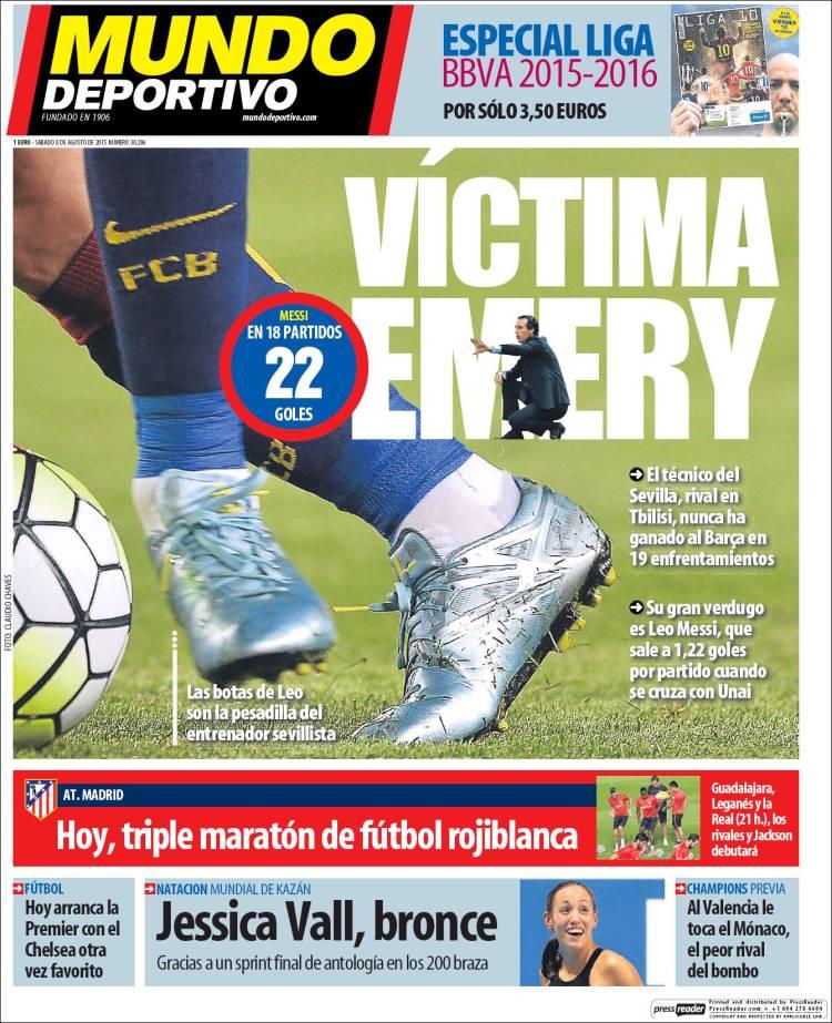 Mundo Deportivo Portada 08.08.15
