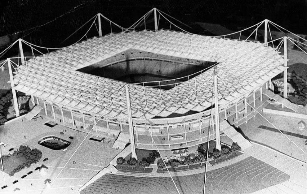 Maqueta Bernabéu Félix Candela
