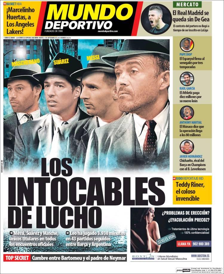 Mundo Deportivo Portada 01.09.15