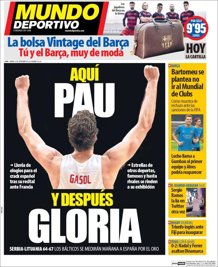 Mundo Deportivo Portada 19.09.15