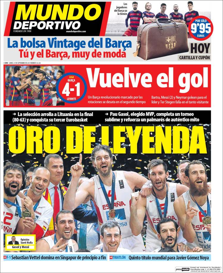 Mundo Deportivo Portada 21.09.15