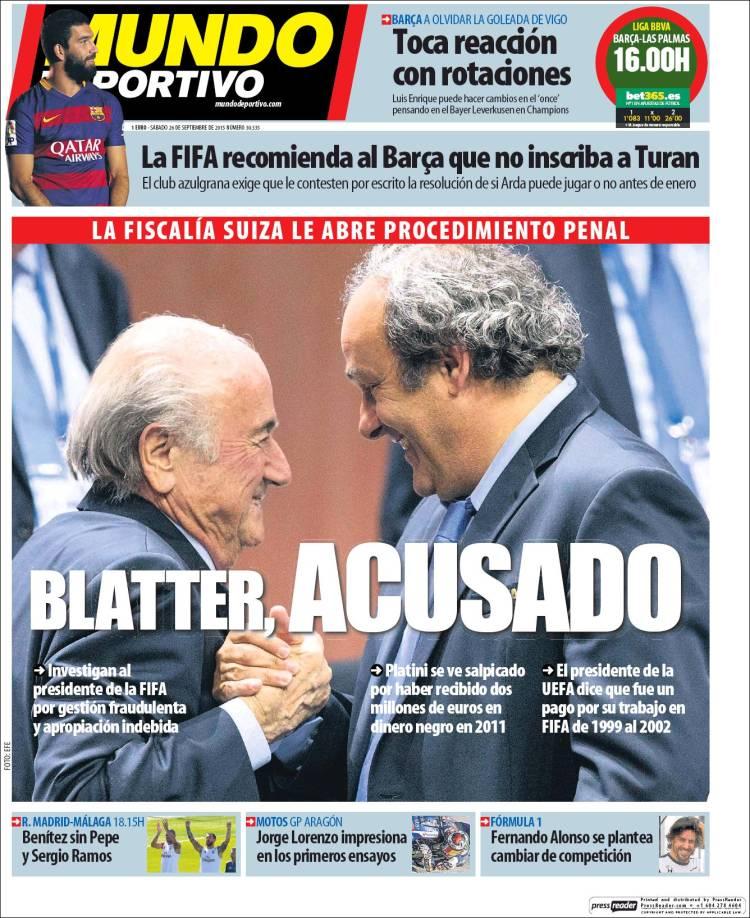 Mundo Deportivo Portada 26.09.15