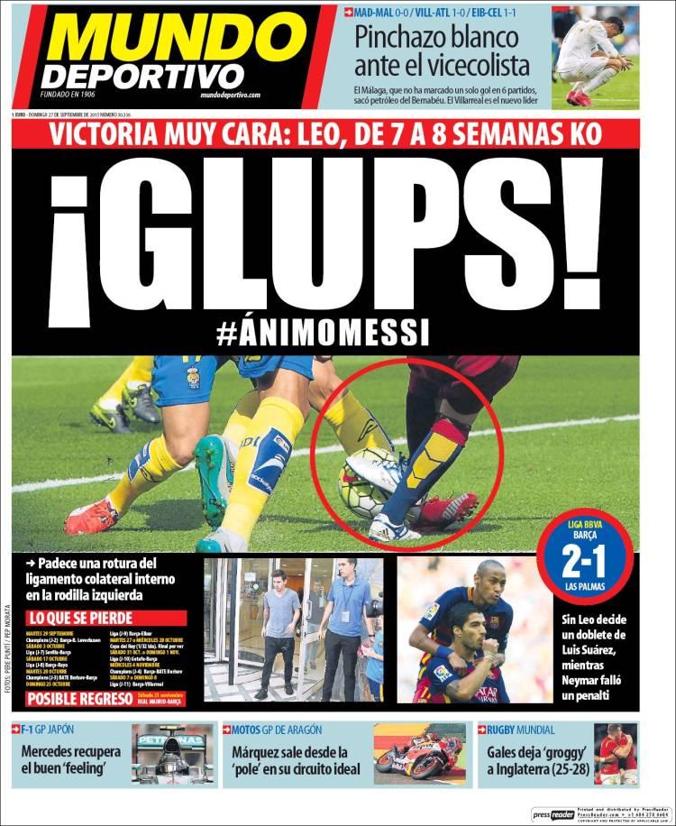 Mundo Deportivo 27.09.15