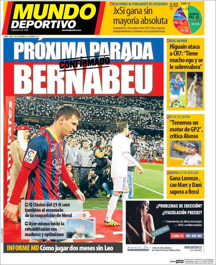 Mundo Deportivo Portada 28.09.15