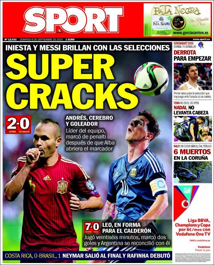 Sport Portada 06.09.15