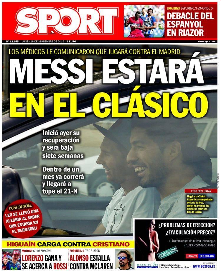 Sport Portada 28.09.15