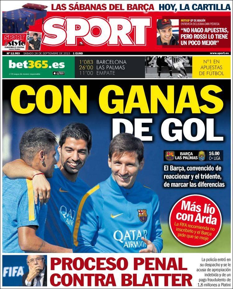 Sport Portada 26.09.15