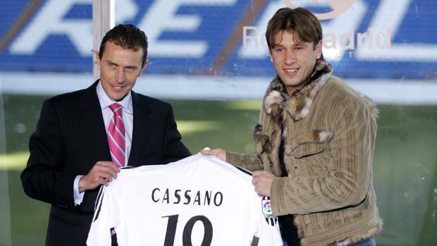 Presentación Cassano Real Madrid