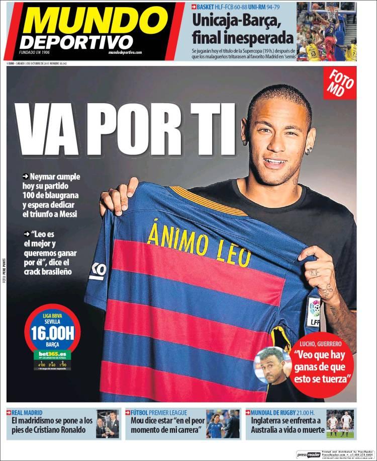 Mundo Deportivo Portada 03.10.15