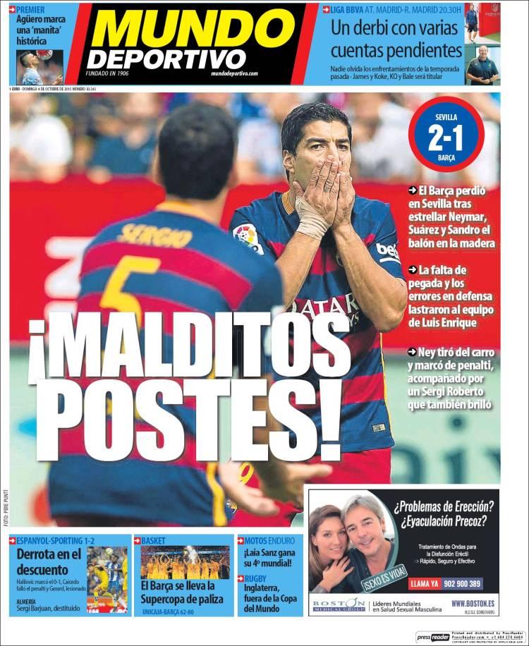 Mundo Deportivo Portada 04.10.15