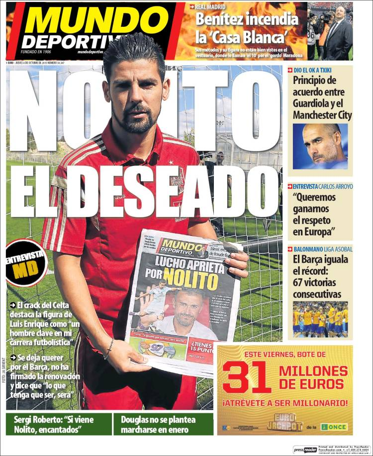 Mundo Deportivo Portada 08.10.15