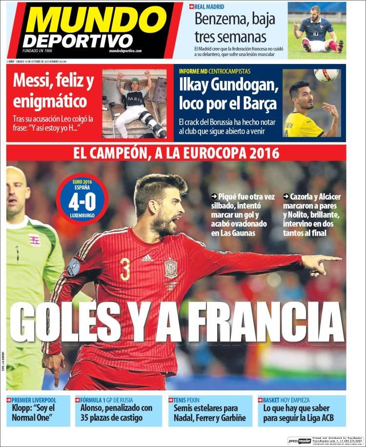 Mundo Deportivo Portada 10.10.15