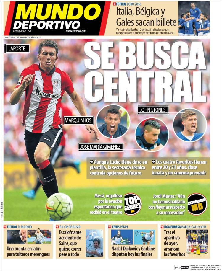 Mundo Deportivo Portada 11.10.15