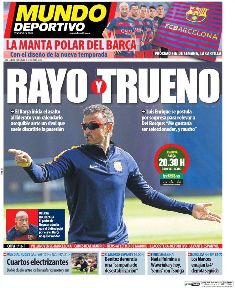 Mundo Deportivo Portada 17.10.15