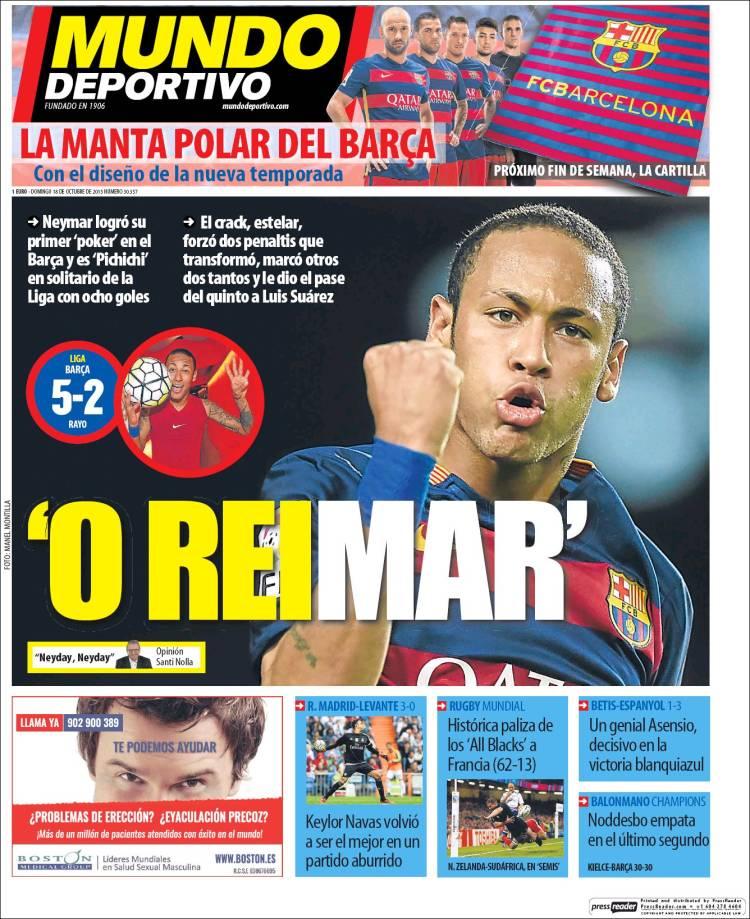 Mundo Deportivo Portada 18.10.15