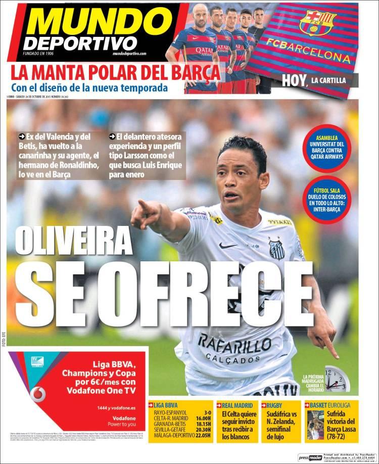 Mundo Deportivo Portada 24.10.15