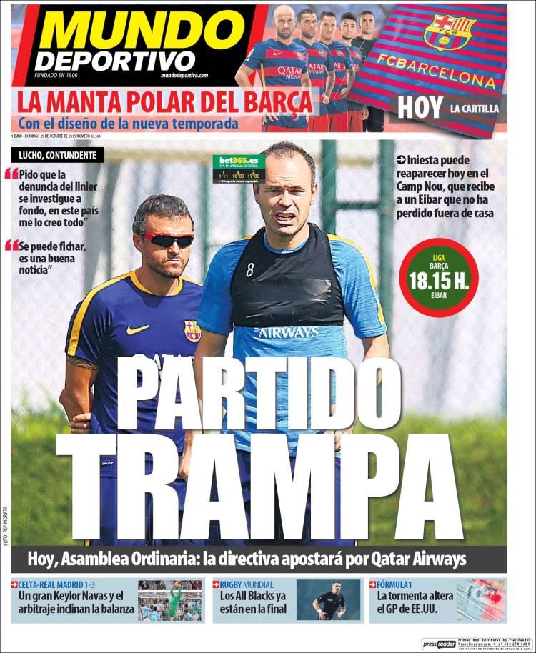 Mundo Deportivo Portada 25.10.15