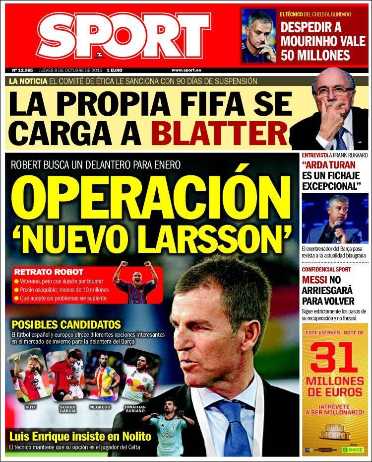 Sport Portada 08.10.15