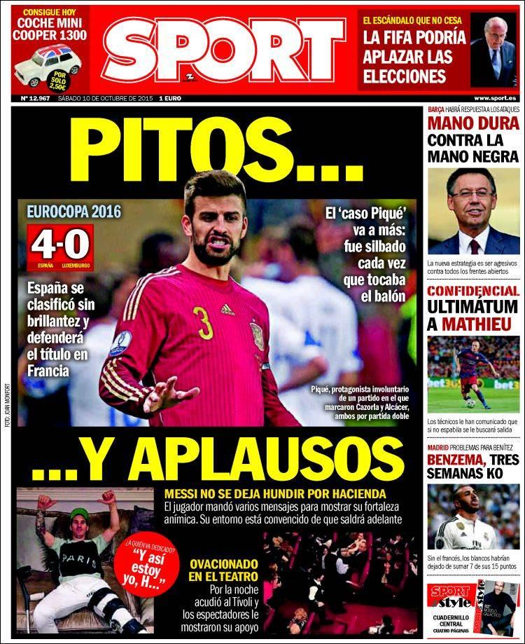 Sport Portada 10.10.15
