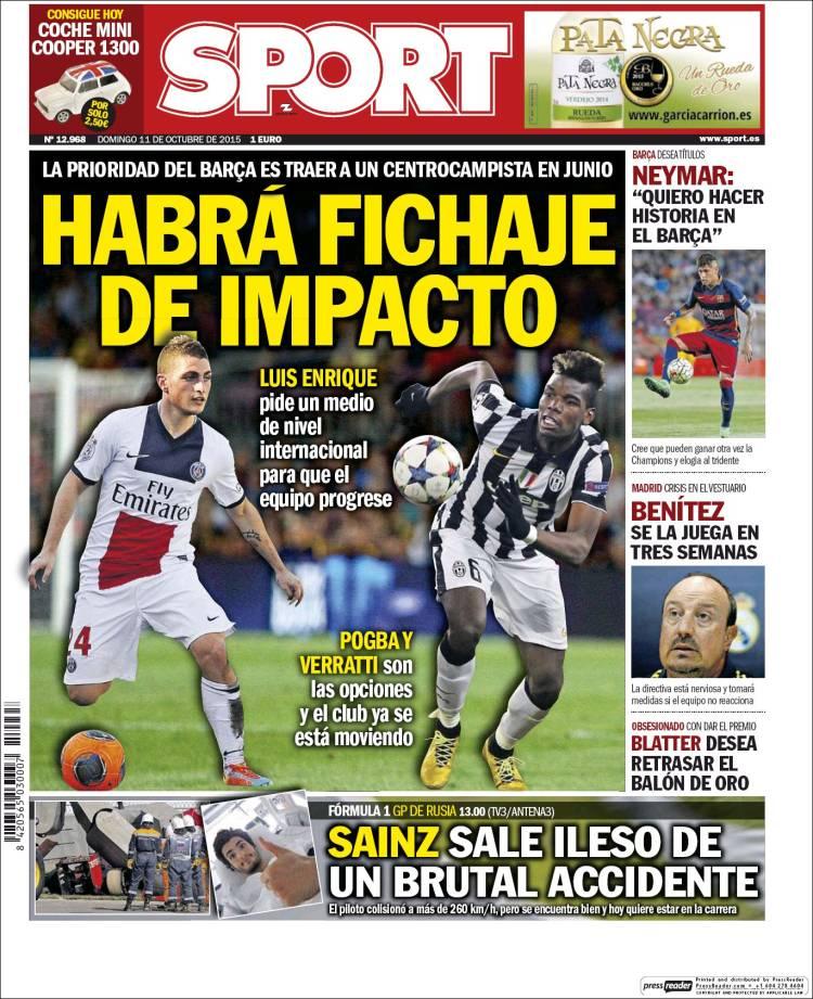 Sport Portada 11.10.15