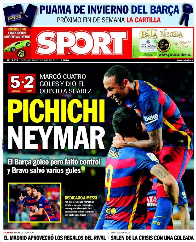 Sport Portada 18.10.15